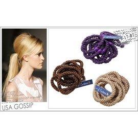 ㊣ USA GOSSIP ㊣ L. Erickson 綁馬尾 超 彩色髮束 髮圈 ^(一組