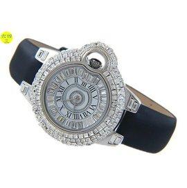 ^(六四三 ^)超美滿天星方鑽面盤.錶殼.大型錶徑4.3公分精準鑽錶....銀