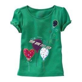 雙寶 原單GAP女童短袖棉T.短T.T恤.短袖上衣上刺繡繡花居家服仲夏棉T