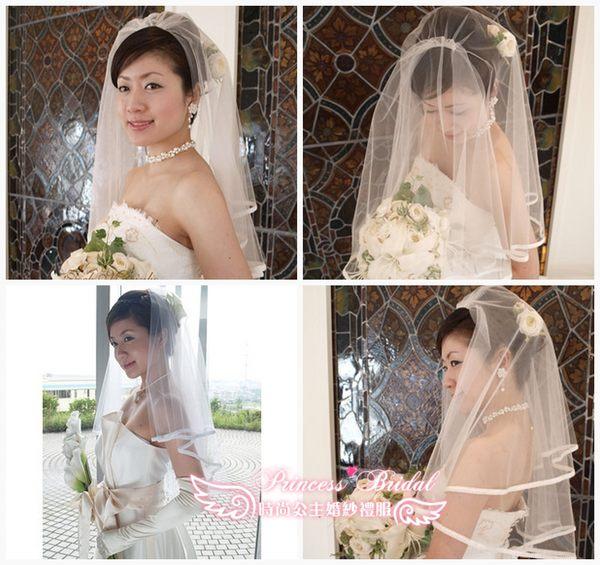 新娘婚礼韩版婚纱礼服头纱手套裙撑新娘必备三