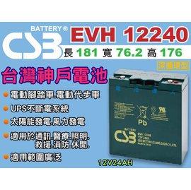 ~電池 ~神戶電池 CSB 超長效 EVH12240 12V~24AH REC22~12