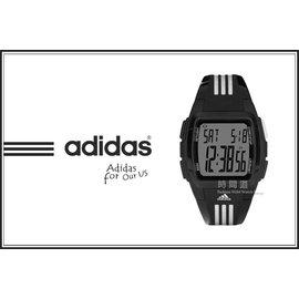 ?~時間道~?adidas~愛迪達?~買就送發光小鬧鐘~休閒電子錶 白三線小 ^(ADP6
