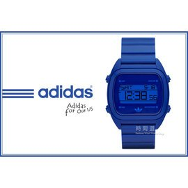 ?~~時間道~?adidas~愛迪達?~買就送發光小鬧鐘~ 復古 腕錶 藍  ADH272