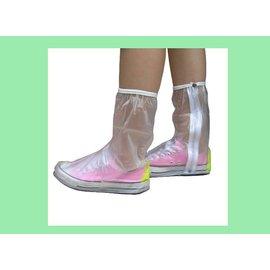 ~三和牌 賣場~女用馬靴型防雨鞋套~透明~防水~防滑~有反光片.可增加夜間安全
