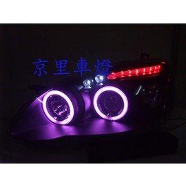 京里車燈專網 豐田 ALTIS 01^~07 外銷版CCFL光圈投射銀底^(黑底^)SMD