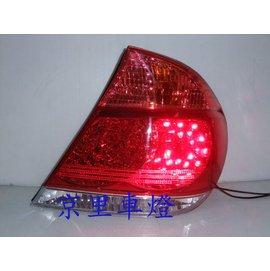 京里車燈專網 豐田 CAMRY 02 03 04 05 06年紅白晶鑽LED尾燈一邊115