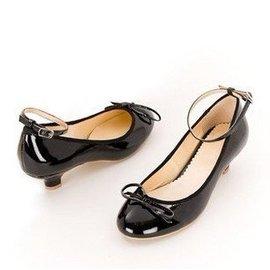 訂鞋店^~ 甜美淑女單鞋真皮女鞋娃娃鞋大碼鞋小碼鞋訂做