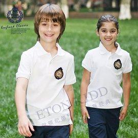 伊頓紀德英倫 男童女大童短袖t恤兒童polo衫夏裝10T001