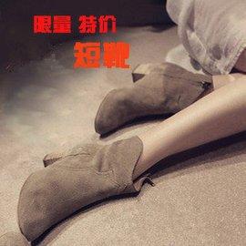 春秋女靴子英倫粗跟真皮短靴高跟中跟 騎士靴裸靴馬丁靴中靴鼕