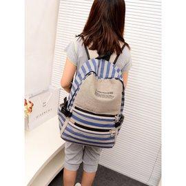 2013 帆布雙肩包男女潮學院風學生書包後背包電腦包包