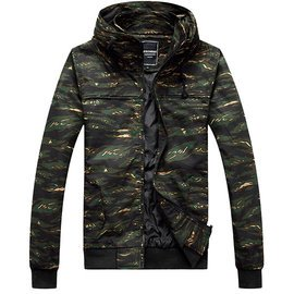 悍將軍式重裝風格•全迷彩大領硬挺夾克