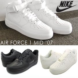 Nike Air Force 1 08 全白 全黑 25週年 AF1^(男女款^) 款 跑