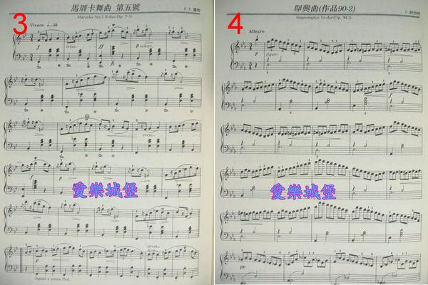 拜耳钢琴曲第66 乐谱-钢琴谱 优美的钢琴名曲选集6 幻想即兴曲 马昔卡舞曲.邀舞