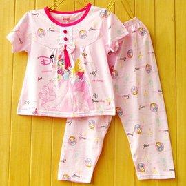 2013夏裝 兒童睡衣純棉短袖女童女孩家居服寶寶大童公主套裝