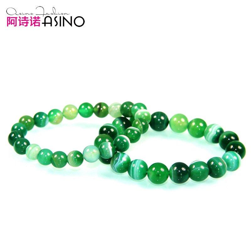 阿诗诺正品精灵之舞天然翡翠绿天珠玛瑙男女情侣手链饰品礼物特价