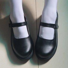 日繫娃娃鞋lolita女僕鞋尖頭洛麗塔cosJK制服大碼學生蘿莉皮鞋