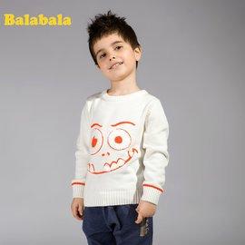 巴拉巴拉2013 男小童純棉百搭套頭衫毛衫針織衫秋裝上新