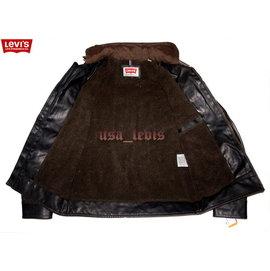 【美国Levi's专卖】超保暖羊绒里优惠LEVIS RED 连帽骑士皮衣防水防风深咖啡外套夹克S号501