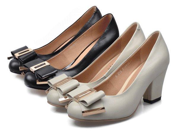 【米兰秀】韩国空运【真皮小牛皮手工订制鞋】nws15高跟鞋ol鞋通勤鞋