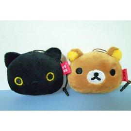 小黑貓靴下貓 懶懶熊拉拉熊HTC ONE iphone 三星S2 S3 ARC S手機擦耳