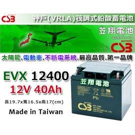?台中苙翔電池?CSB深循環電池^(EVX12400 12V~40AH^)WP50~12N