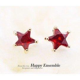 耳環 鋯石 星星耳環 ~滿天星星的夜空下~ ~ Coco  Evelyn