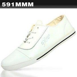 性感美梅╭☆  591mmm   潮流男鞋 2010  系帶 百搭素色休閒男士皮鞋N57