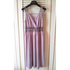 法國品牌~CACHAREL~卡夏爾 細緻天鵝絨鏤空腰部蕾絲肩帶宮廷風高腰洋裝