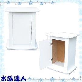 ~水族 ~~二尺海灣ㄇ型魚缸 木架 木櫃 櫃子^(65^~45^~83cm^)˙白色~ 制