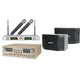 【音响仓库】BOK卡拉OK组 KA-5500R(扩大机)+AT-25L(UHF无线麦克风)+CS-490