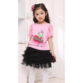 童s839~120^~160cm可愛魚尾裙款 紗裙 蛋糕裙 大童半身裙^(黑色^)