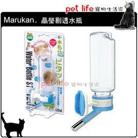 ~Pet Life 寵物 家~ Marukan ~ 鼠鼠 晶瑩剔透水瓶 120ml WB~