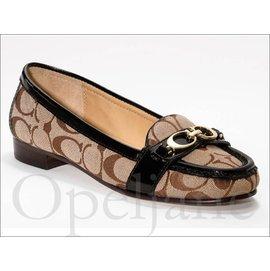 Coach Flat Shoes CC金屬上班族百搭低跟懶人鞋娃娃鞋休閒鞋包鞋 免 愛Co