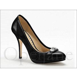 Coach Heel Shoes 黑色全真皮淑女OL上班尖頭細跟高跟鞋包鞋附鞋盒 免 愛C