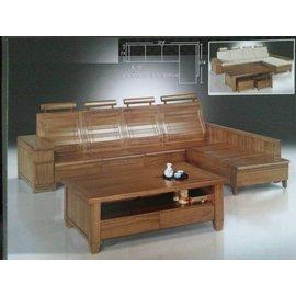 ~巧匠 廣場~14210~868   製 柚木半實木L型貴妃木板椅~滿5000元 大台北