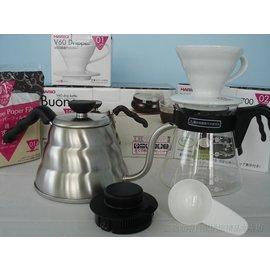~圖騰咖啡~HARIO四合一手沖套餐 : 雲朵細口壺VKV~100HSV V60陶瓷錐型濾