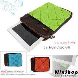~winshop~B1261 多 蘋果iPad平板電腦^(格紋手提^)保護包 保護套收納包
