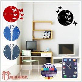 【winshop】A1503 DIY壓克力掛鐘/時鐘/造型鐘/壁鐘/靜音鐘/方形鐘圓形鐘/iphone造型鐘/客製化印製
