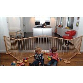 正品 德國專櫃同步 歐洲純實木 櫸木 兒童遊戲圍欄 嬰兒安全圍欄 學步圍欄護欄 6片