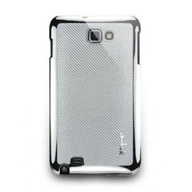 Galaxy Note 1 I Corium 玻纖保護背蓋 亮銀色 手機 保護 蓋 殼 n