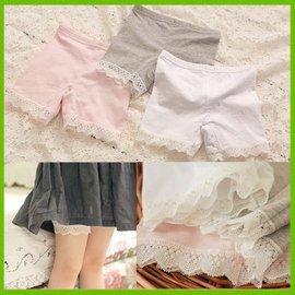 ~貝貝樂SHOW~ 韓國品牌Myfashion公主洋裝 彈力蕾絲安全褲^~^(粉色、白色、