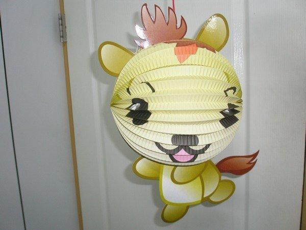【优购精品馆】马灯笼 马年灯笼 q版十二生肖造型纸灯笼 (马造型/附