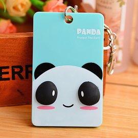 草莓熊雜貨店 卡通便攜式卡包 韓國可愛卡片包 車票卡提款卡信用卡夾 貓熊 圓圓