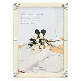 LADONNA Bridal系列4x6水晶花語結婚相框^(MJ36~P~WH^)~情人節