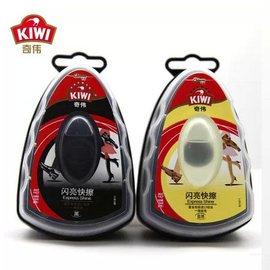 正品 KIWI奇偉 鞋油 閃亮快擦6個包郵 黑色 自然色 6克