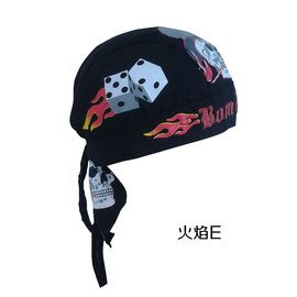 海盜帽子cos 頭巾帽 街舞帽子男女童帽成人帽 機車帽火焰繫列D