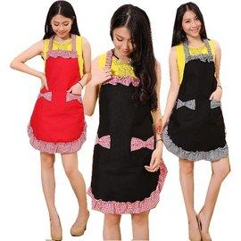 包郵 廚房 可愛公主家居服女款服務員圍裙工作服