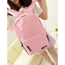 2013 純色雙肩後背包男女中學生背包書包帆布背包旅行包