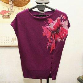 包郵 專櫃正品羊毛針織蝙蝠衫短袖毛衣 598元