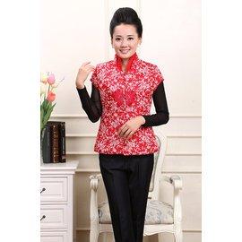 2014中老年女裝棉服民族風唐裝短袖棉衣外套馬甲背心棉襖